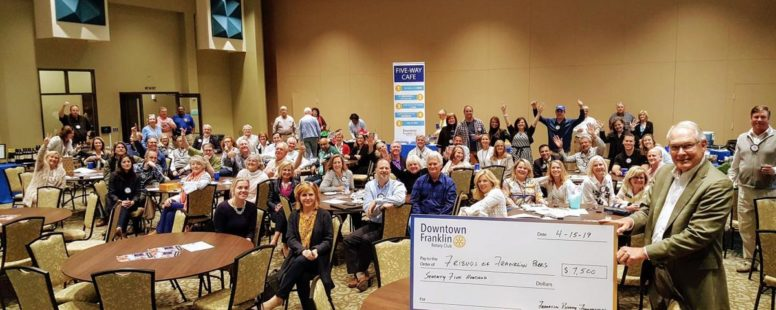 Local organizations accept Downtown Franklin Rotary Club donations