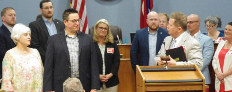 Bruce Hull honored for service during final meeting as vice mayor