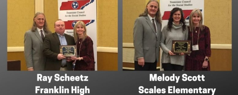 WCS Social Studies Teachers Earn State Awards